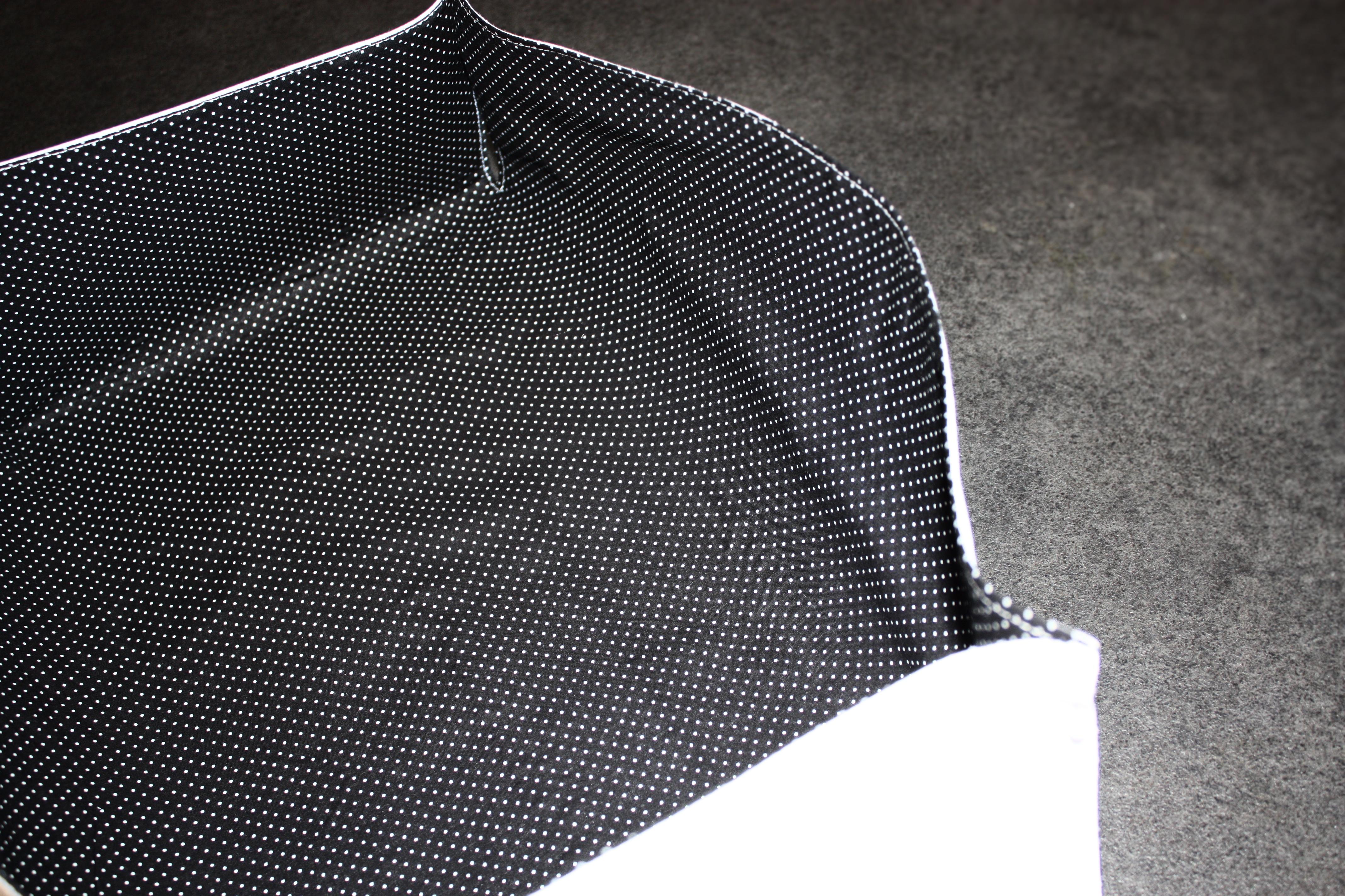 comment rigidifier son tissu tuto panier de rangement en. Black Bedroom Furniture Sets. Home Design Ideas